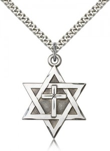 Bliss-Sterling-Silver-Star-of-David-W-Cross-Pendant-1-14-x-78